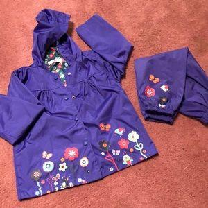 Girls rain suit
